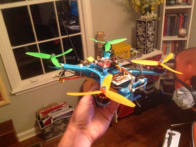 Naze32四轴飞行器框架 3D打印模型渲染图