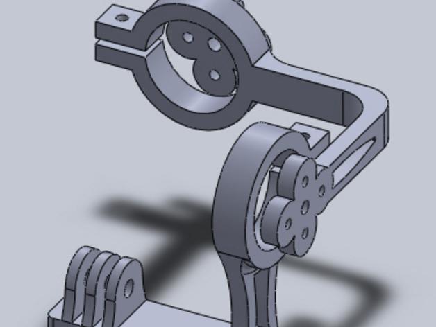 GoPro Hero 3相机常平架 3D打印模型渲染图