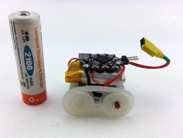 迷你roBot履带机器人 3D打印模型渲染图