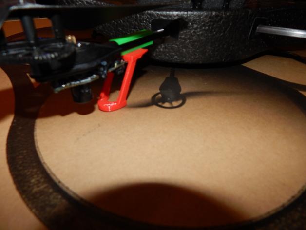 无人机起落架 3D打印模型渲染图