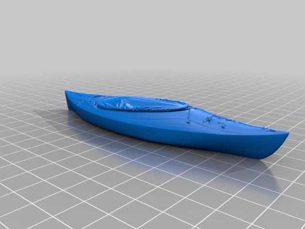 皮艇 3D打印模型渲染图