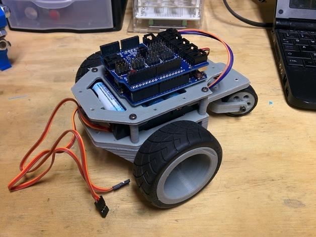 Arduino机器人底盘 3D打印模型渲染图