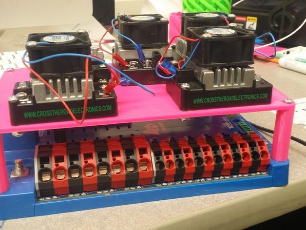 电源分配板支架 3D打印模型渲染图