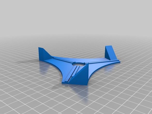 苜蓿叶形天线 夹具 3D打印模型渲染图
