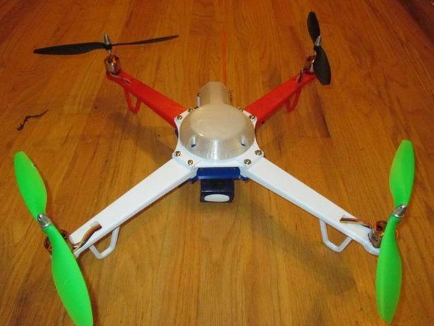 """""""鸽子二号""""四轴飞行器 3D打印模型渲染图"""