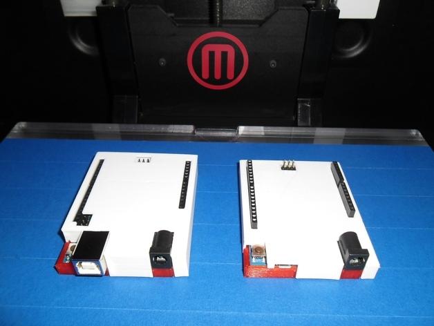 Arduino Uno&Leonardo电路板外壳 3D打印模型渲染图