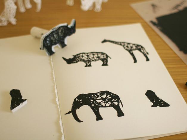 数字化动物邮票