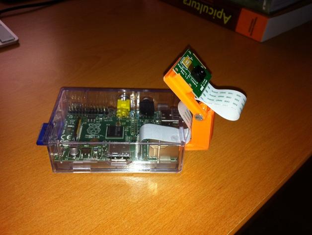 树莓派相机 模块化支撑臂 3D打印模型渲染图