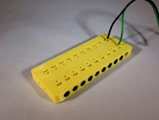 定制化的电源总线 3D打印模型渲染图