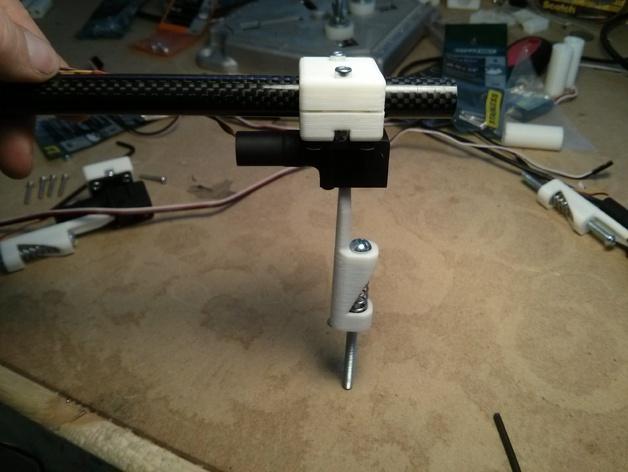 可折叠起落架 3D打印模型渲染图