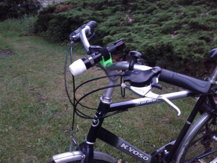 自行车手电筒支架 3D打印模型渲染图