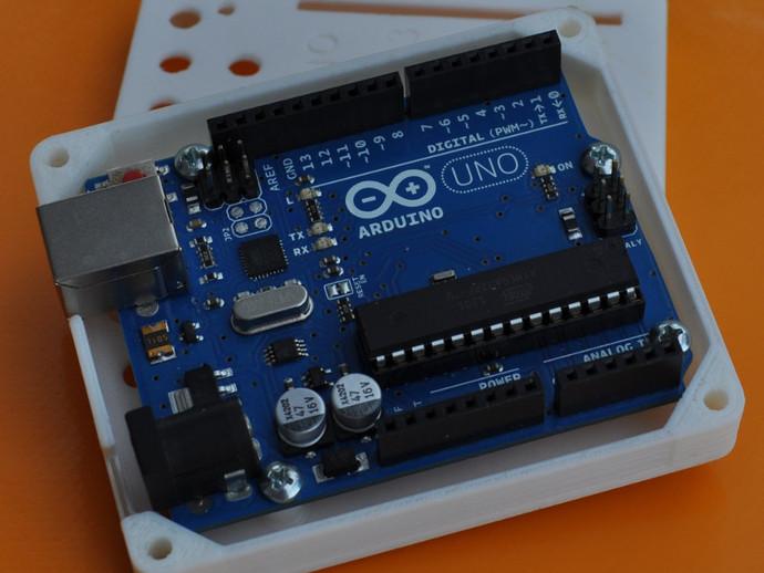 Arduino Uno R3电路板外壳 3D打印模型渲染图