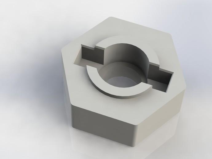 遥控赛车六边形轮胎 3D打印模型渲染图