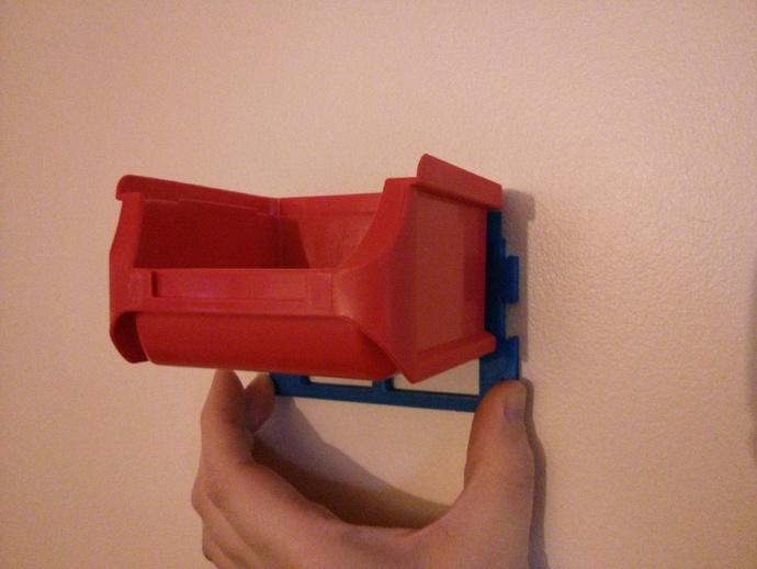 壁挂式整理箱挂钩 3D打印模型渲染图