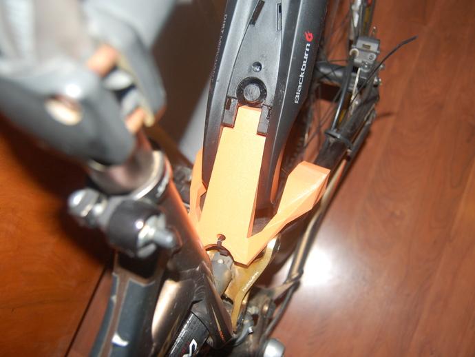 自行车后翼子板 3D打印模型渲染图