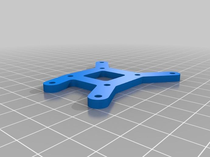 Arduino Uno电路板支架 3D打印模型渲染图
