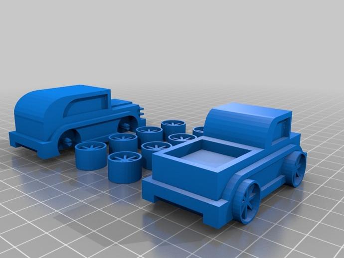 儿童 小汽车 3D打印模型渲染图