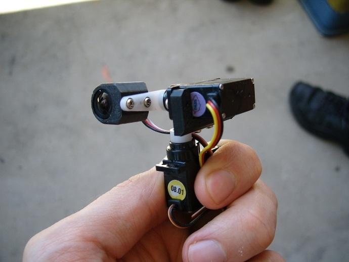 tilt&pan相机支架 3D打印模型渲染图