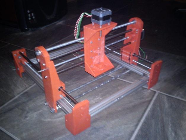 简易迷你CNC设备 3D打印模型渲染图