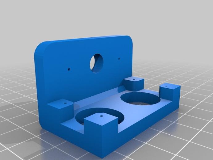 超声传感器 伺服支架 3D打印模型渲染图
