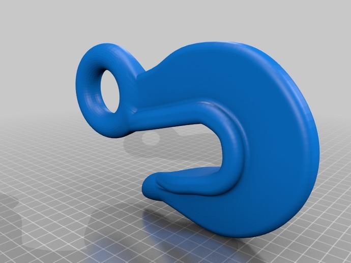 简易鱼钩 3D打印模型渲染图