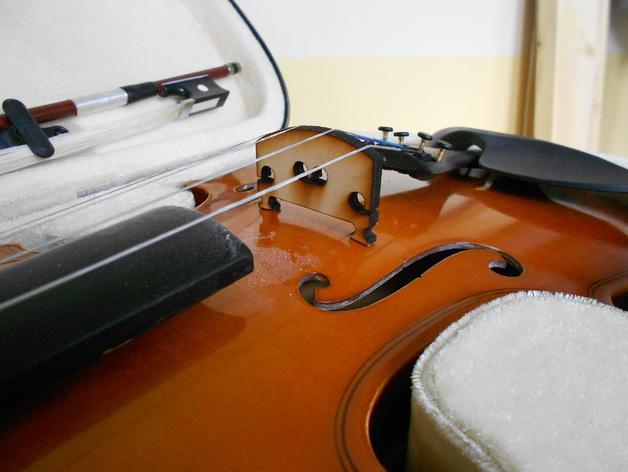 小提琴 琴桥 3D打印模型渲染图