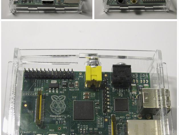 树莓派电路板外壳 3D打印模型渲染图