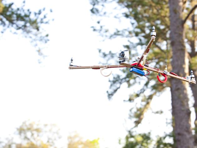 三轴飞行器V2.5  3D打印模型渲染图