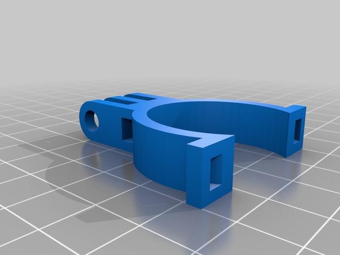 自行车 Gopro相机支架 3D打印模型渲染图