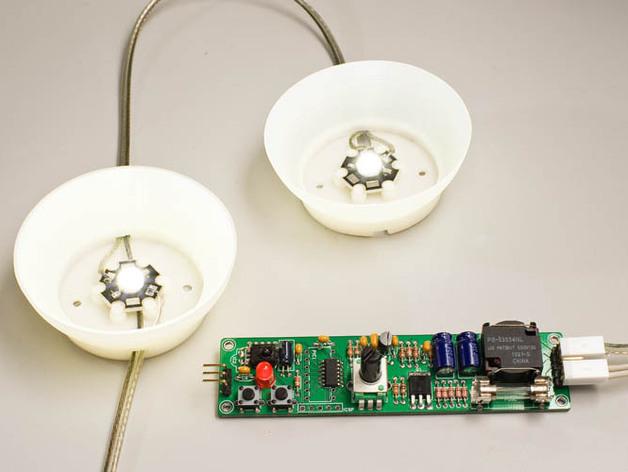 大功率LED灯 灯罩 3D打印模型渲染图