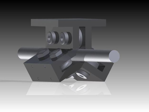 线性轴承 3D打印模型渲染图