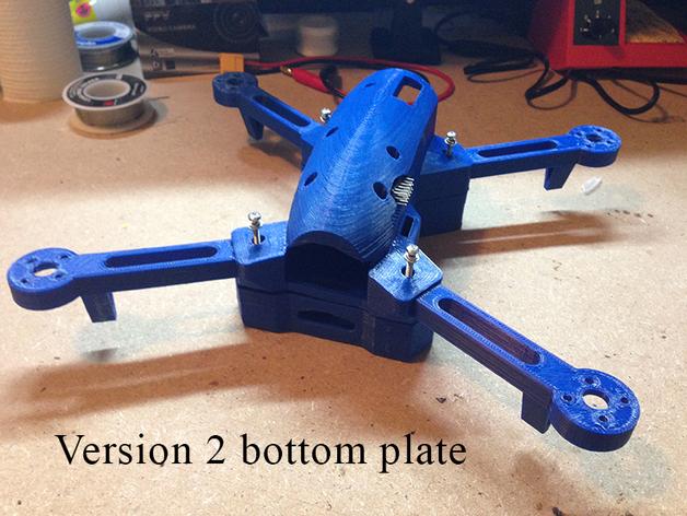 多轴飞行器底板 3D打印模型渲染图