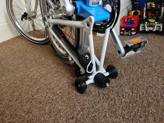 Brompton专业折叠自行车 轮胎 3D打印模型渲染图