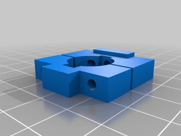 Nemesis 240迷你飞行器的摄像头固定槽 3D打印模型渲染图