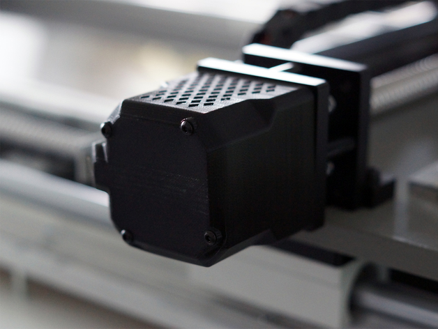 NEMA23步进电机 外壳 3D打印模型渲染图