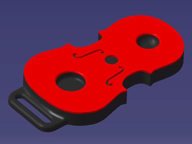 大提琴形的皮带扣