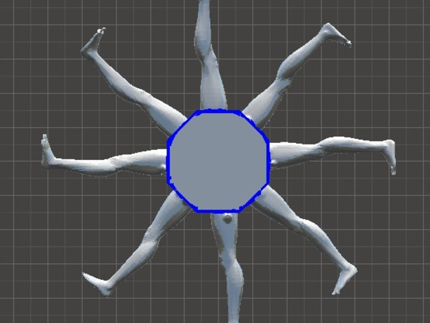 人腿之轮 3D打印模型渲染图