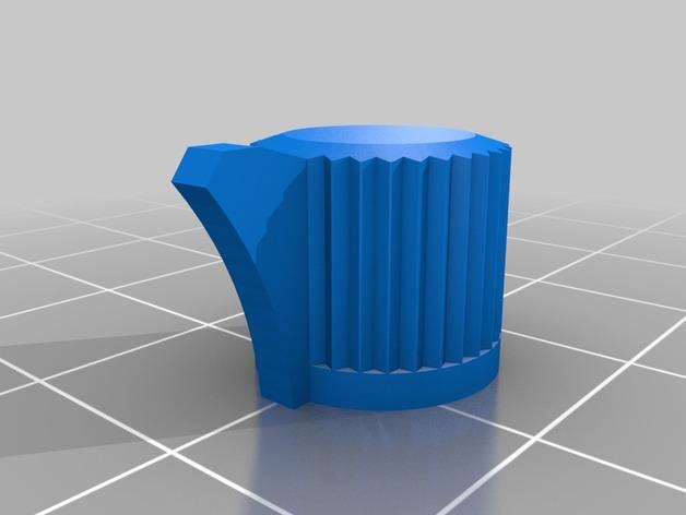 Turnigy 9x发射机旋钮 3D打印模型渲染图