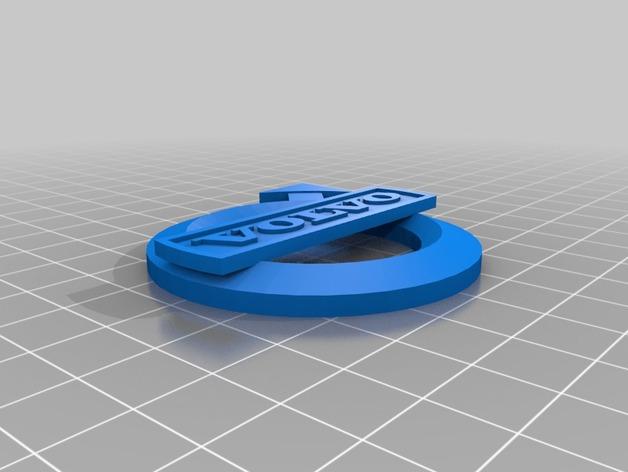 沃尔沃Logo 3D打印模型渲染图