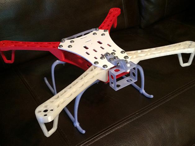 Spyda 500 FPV四轴飞行器 起落橇 3D打印模型渲染图