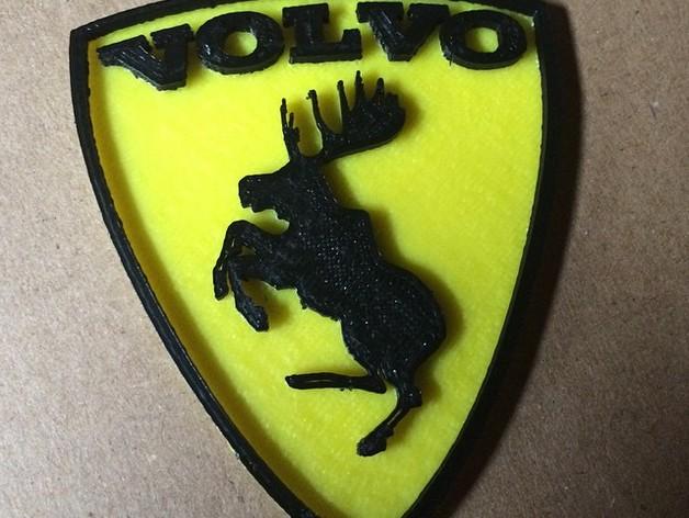 沃尔沃 Prancing Moose汽车标志 3D打印模型渲染图