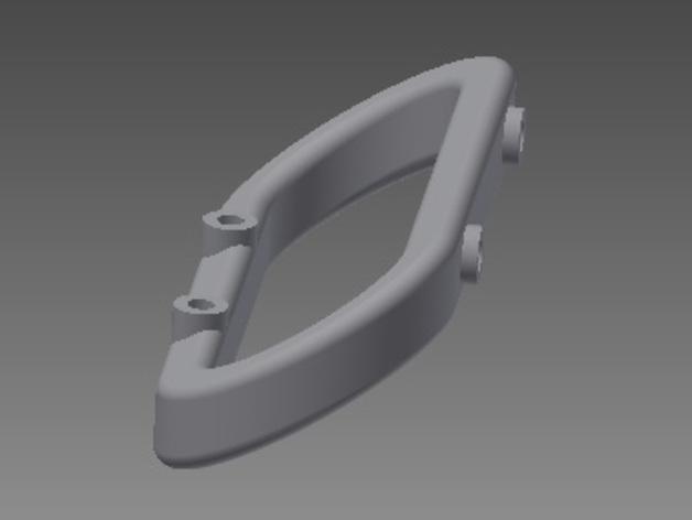 Traxxas遥控车 前后保险杠支架 3D打印模型渲染图