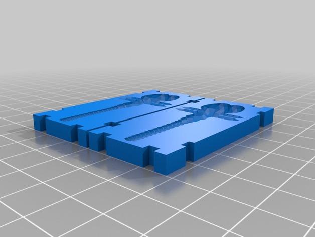 蜻蜓 鱼饵模具 3D打印模型渲染图