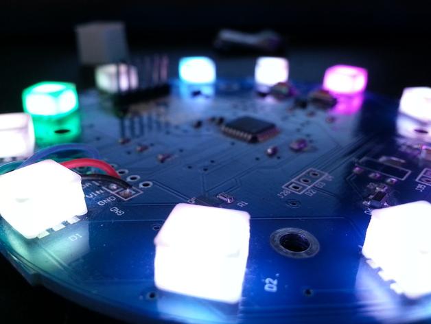 LED扩散器 帽盖 3D打印模型渲染图