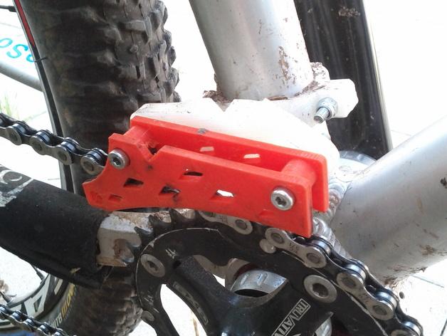 自行车链条固定装置 3D打印模型渲染图