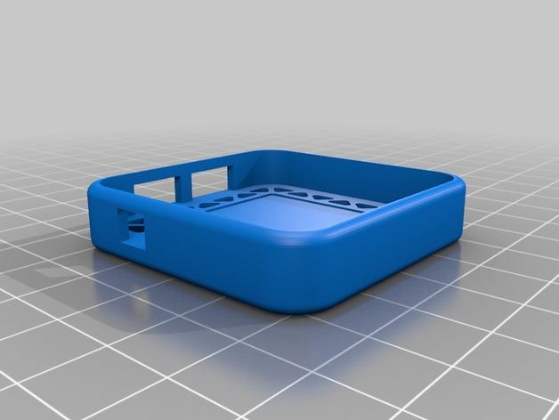 UBLOX 3DR GPS模块固底座 3D打印模型渲染图
