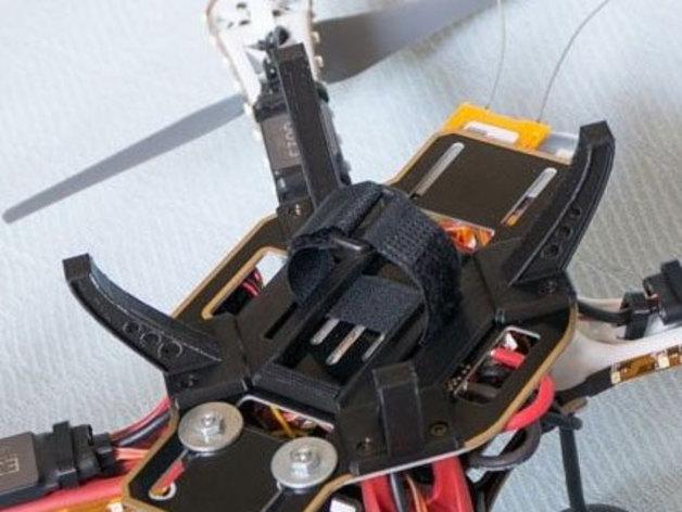 多轴飞行器起落架 电池支架 3D打印模型渲染图