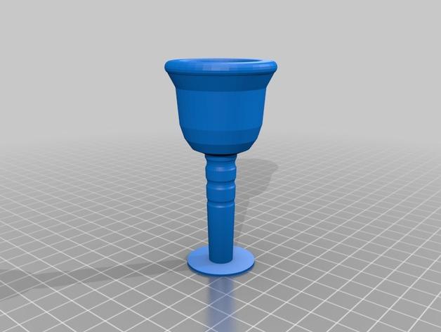 长号 号嘴 3D打印模型渲染图