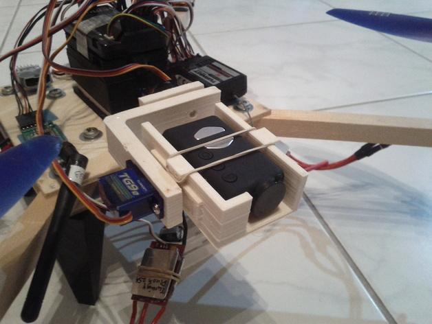 相机常平架 3D打印模型渲染图