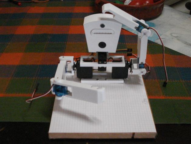 TISJ1人形机器人 3D打印模型渲染图